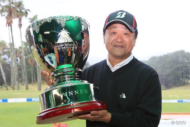 2015年 いわさき白露シニアゴルフトーナメント 事前 倉本昌弘 昨年は最終ラウンドが中止となる中、倉本昌弘が優勝を飾り逆転で賞金王の座についた