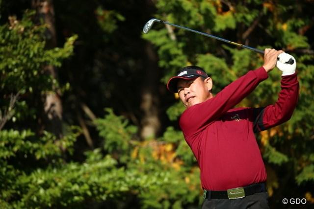 2015年 カシオワールドオープンゴルフトーナメント 初日 平塚哲二 44歳の平塚哲二が首位でスタートした