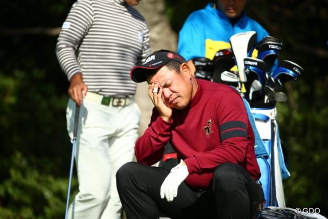2015年 カシオワールドオープンゴルフトーナメント 初日 平塚哲二 昨日飲んでて寝てないの? フレンチ平塚プロ