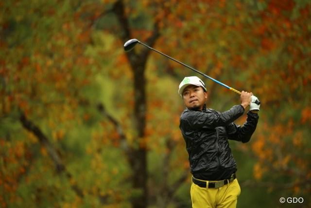 2015年 カシオワールドオープンゴルフトーナメント 初日 片山晋呉 ほんとに無駄のないスイング