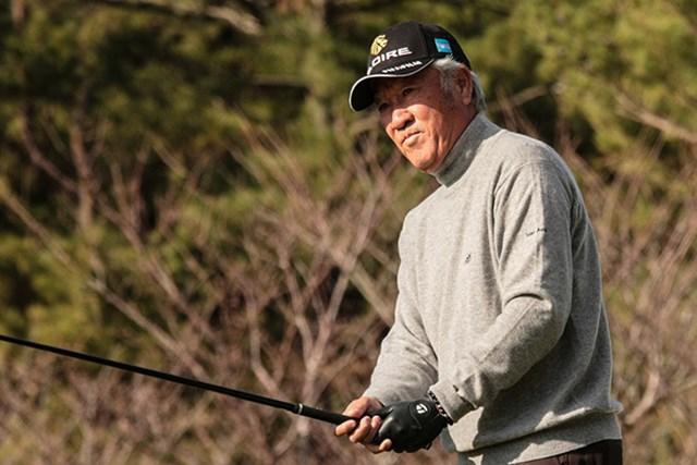 青木功が2R連続でエージシュート。「うーん、悔しい。もっと良いスコアで回りたい」※日本プロゴルフ協会提供