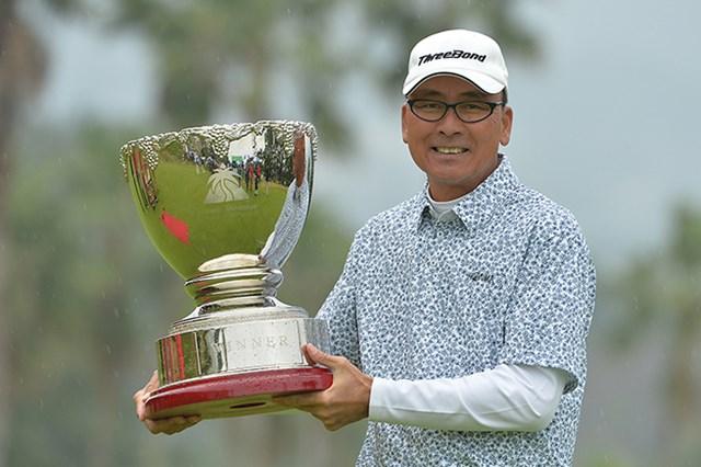 今季最終戦でシニアツアー初優勝を飾った陳志忠※日本プロゴルフ協会提供