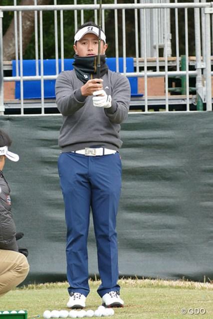 2015年 ゴルフ日本シリーズJTカップ 事前 片岡大育 日本シリーズ初出場組の1人、片岡大育。高めのテンションをいかに抑えるかを課題とした