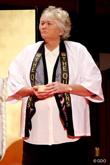 御年52歳。羽織が似合います 2015年 THE QUEENS presented by KOWA 事前 ローラ・デービース