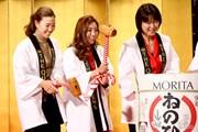 2015年 THE QUEENS presented by KOWA 事前 上田桃子&イ・ボミ