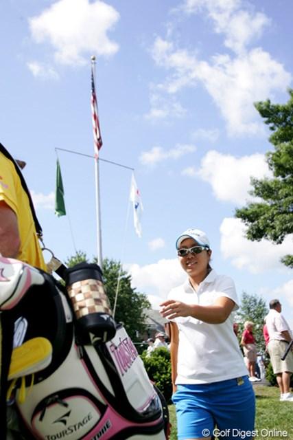 2009年 全米女子オープン 初日 宮里美香 折り返しまでは絶好調。後半で崩れたのが残念。