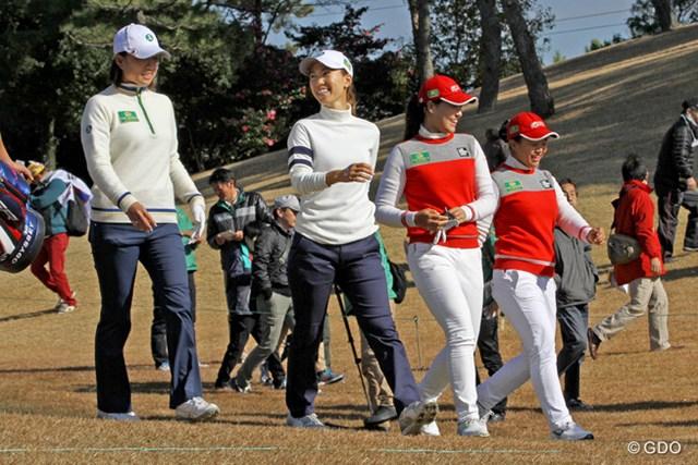 上田桃子&原江里菜組が、韓国のチョン・インジ&キム・セヨンの強豪に5&4で快勝した