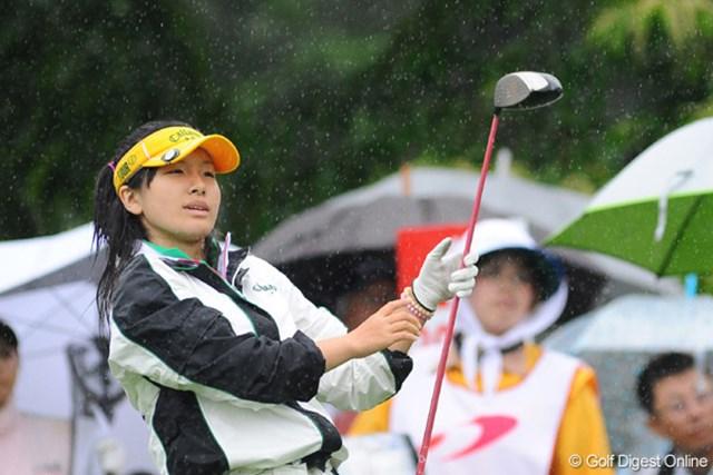 2009年 明治チョコレートカップ 初日 藤田光里 中学生の藤田さん。テニスの伊達公子プロに似てません?