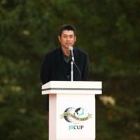 勇太のスピーチはしっかりしてる。でもスピーチの時はタメ口じゃないんだね。 2015年 ゴルフ日本シリーズJTカップ 最終日 池田勇太