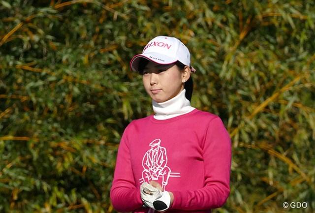 2015年 LPGA新人戦 加賀電子カップ 初日 森美穂 キリッ。