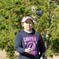 18回目のプロテスト挑戦で合格した安納昭江は「出るからには優勝したい」と語った 2015年 LPGA新人戦加賀電子カップ 初日 安納昭江