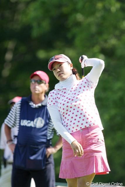 2009年 全米女子オープン 2日目 大山志保 最後までリズムを取り戻せなかった。