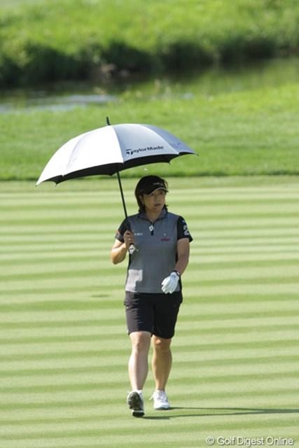 2009年 全米女子オープン 2日目 福嶋晃子 この日は「72」で耐えしのぎ、予選突破を果たした!