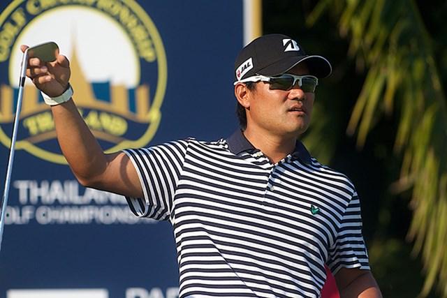 2015年 タイランドゴルフ選手権 初日 宮里優作 宮里優作が4アンダーの7位で好発進を決めた ※画像は大会提供