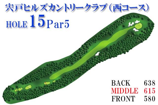 宍戸CC西_2_2 ティショットは左右のハザードをケアしながら、絞られた狭いフェアウェイを狙わなければならない