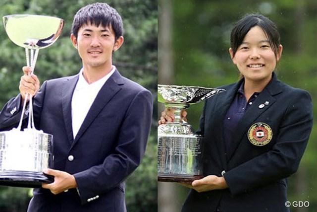 2015年大会は男子が金谷拓実、女子は勝みなみがマッチプレーを勝ち抜いて王座についた