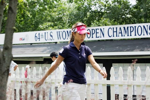 2009年 全米女子オープン 3日目 上田桃子 上田桃子は「72」をマークし、27位タイに浮上。本調子でないながらも健闘を見せている