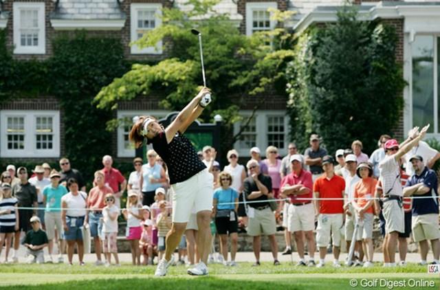 2009年 全米女子オープン 3日目 福嶋晃子 パットが好調だったという福嶋晃子が23位タイに浮上した