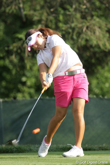 2009年 全米女子オープン 3日目 宮里美香 今日はオレンジ色のボールでプレーした。