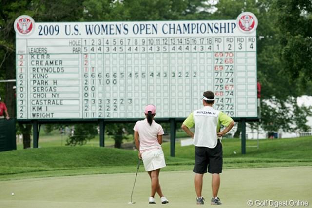 2009年 全米女子オープン 3日目 宮里藍 この日アンダーパーは6人だけ。イーブンの藍ちゃんは上出来だ。