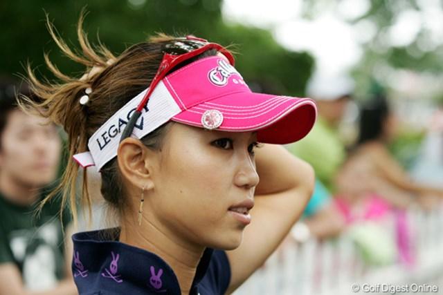2009年 全米女子オープン 3日目 上田桃子 初めてサンバイザーをかぶった。「でも、もう止めます」