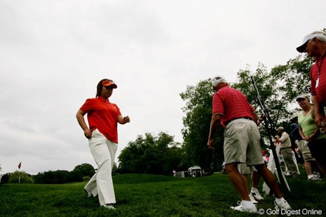 2009年 全米女子オープン 3日目 不動裕理 今日の表情は曇りっぱなし。