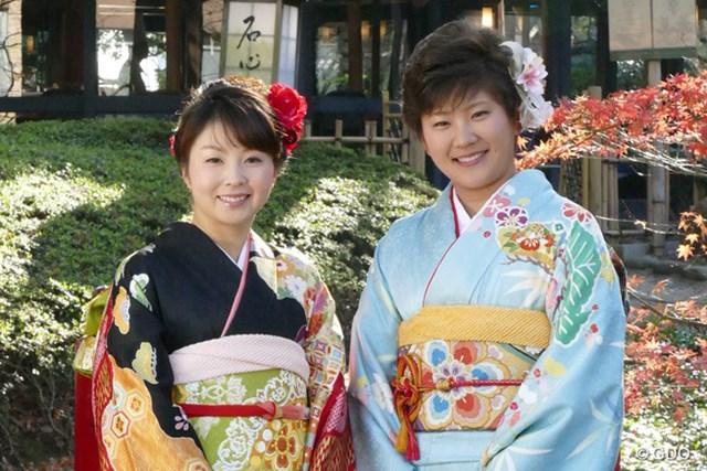 艶やかな振袖姿で登場した菊地絵理香と成田美寿々