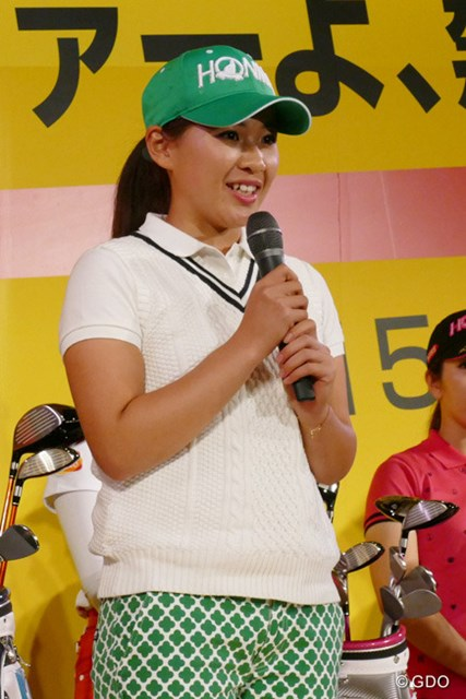 注目の永井花奈がプロ転向を宣言!本間ゴルフとクラブ契約を結んだ