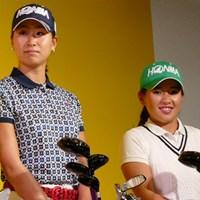 2016年から本間ゴルフと契約を結んだ木戸愛(写真左)と永井花奈 木戸愛 永井花奈