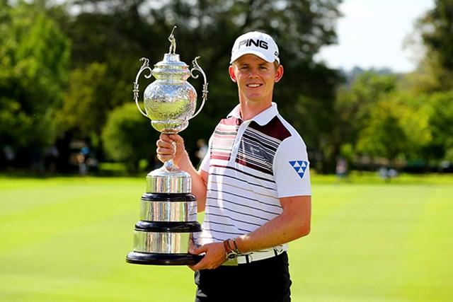 22歳のブランドン・ストーンが大会を制し最年少記録を更新した(Richard Heathcote/Getty Images Sport)