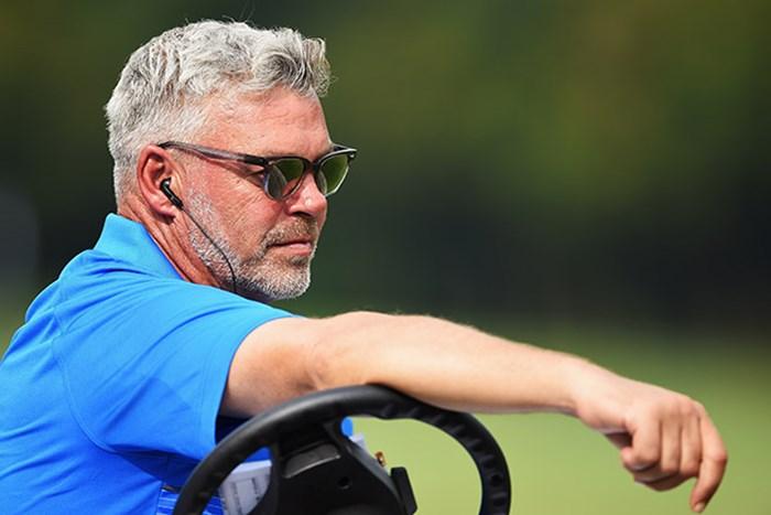 欧州チームのキャプテンを務めるダレン・クラーク(Stuart Franklin/Getty Images) 2016年 ユーラシアカップ 初日 ダレン・クラーク