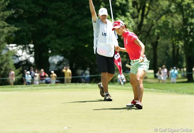 2009年 全米女子オープン 最終日 上田桃子 多くの見せ場も作ったが、本調子にはまだまだか…