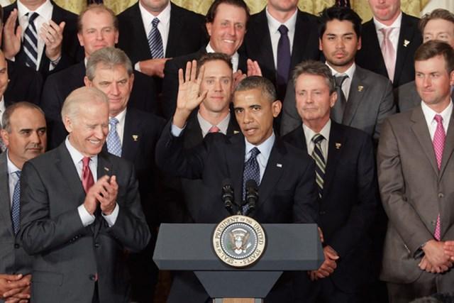 バラク・オバマ大統領は、2013年「プレ杯」で勝利した代表メンバーを翌年6月、ホワイトハウスに招待した(Chip Somodevilla/Getty Images)