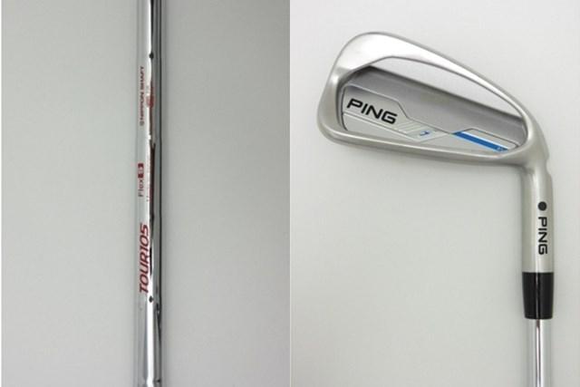 日本シャフト N.S.PRO MODUS3 TOUR 105(左)を純正シャフトとして採用しているピン i アイアン(右)