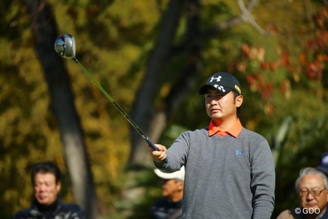第1ラウンドを終えて首位に立った小林伸太郎※撮影は2015年カシオワールドオープン