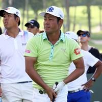 3位で予選を通過した谷原秀人(右)とアン・ビョンフン 2016年 SMBCシンガポールオープン 3日目 谷原秀人 アン・ビョンフン