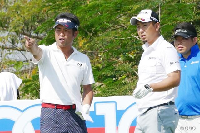 開幕2日前も開催コースで練習ラウンドを行った池田勇太