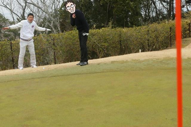 美浦ゴルフ倶楽部_13番ホール(5) グリーン回りの難しさは美浦ゴルフ倶楽部の中でも随一。左サイドにはOBゾーンがすぐそばまで迫り、あと一歩のところで命拾い