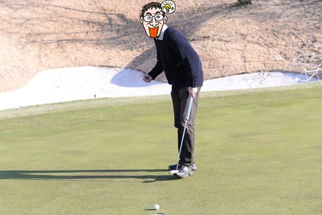 カレドニアン・ゴルフクラブ_1_6 17番ホールでやっと最初のパーが来た。ガッツポーズで過剰に喜ぶN村は、何か吹っ切れたか、それともヤキが回ったか