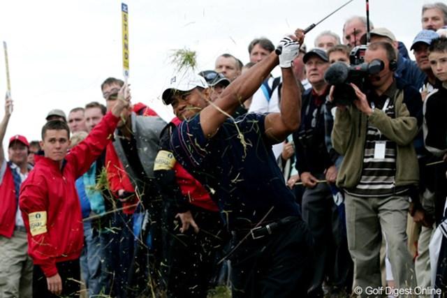 2009年 全英オープン 初日 タイガー・ウッズ 自らのミスでスコアが伸び悩んでしまったタイガー。2日目に巻き返しなるか!?