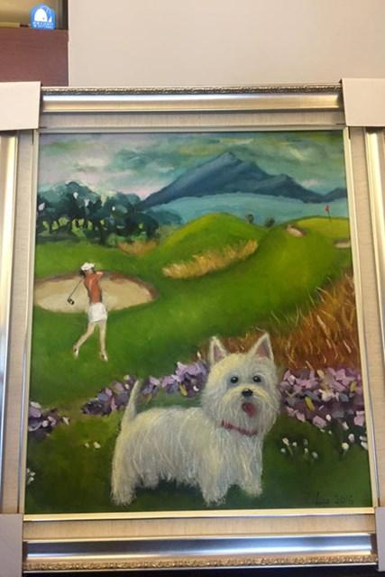 2000万円で落札されたテレサ・ルー画伯の油絵 ※画像はテレサ・ルーのfacebookより
