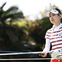 かつては女子ゴルフ界を席巻。レギュラーツアーに久々に登場した竹村真琴が6位発進を決めた 2016年 ダイキンオーキッドレディスゴルフトーナメント 初日 竹村真琴