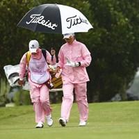 おそろいの合羽 2016年 ダイキンオーキッドレディスゴルフトーナメント 3日目 リ・エスド