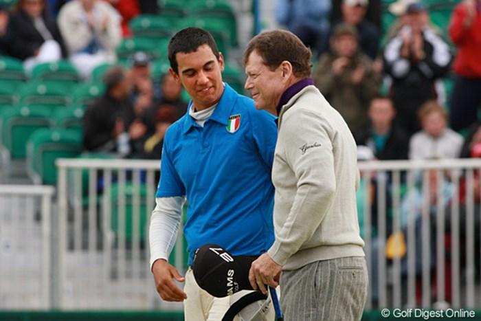 ワトソンを気遣う姿が実に似合っている!?イタリア期待のマッテオ・マナッセロ 2009年 全英オープン 2日目 マッテオ・マナッセロ