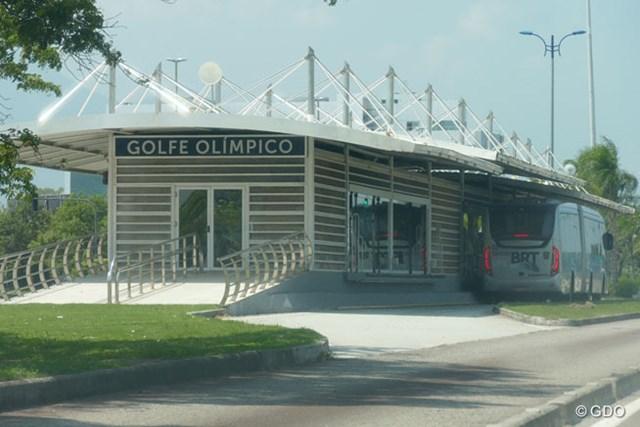2016年 リオデジャネイロ五輪 事前 BRTのオリンピックゴルフ駅 新設されたBRTのオリンピックゴルフ駅。こういうものが五輪の遺産になるんですね。