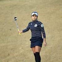 この写真だけで結果はわかるはず。 2016年 ヨコハマタイヤゴルフトーナメント PRGRレディスカップ 初日 城間絵梨