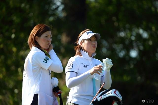 2016年 ヨコハマタイヤゴルフトーナメント PRGRレディスカップ 初日 池内絵梨藻 THE 姉妹。