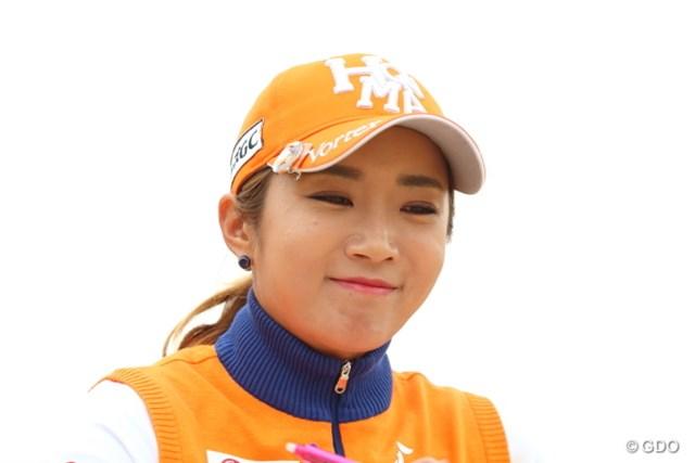 2016年 ヨコハマタイヤゴルフトーナメント PRGRレディスカップ 最終日 イ・ボミ ボミのニンマリ顔。