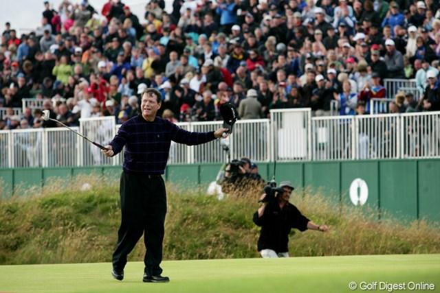 2009年 全英オープン 3日目 トム・ワトソン ターンベリーで1977年以来の全英オープン制覇へ王手を掛けたトム・ワトソン
