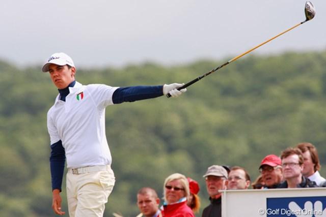 2009年 全英オープン3日目 マッテオ・マナッセロ 強風の下、3日目は72にまとめた。